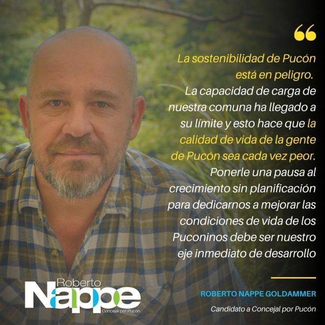 La sostenibilidad de Pucón está en peligro.